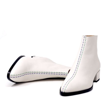 Sylven New York CASSIDY Boot - white leather