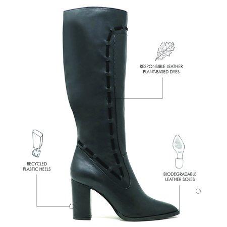 Sylven New York Strada Calf Leather Boots - Black