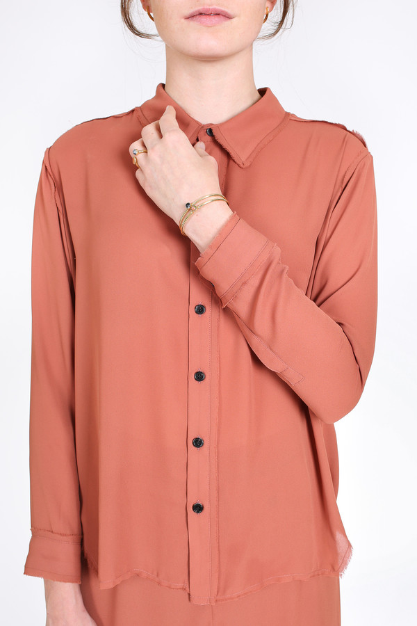 Rachel Comey Rider shirt in clay