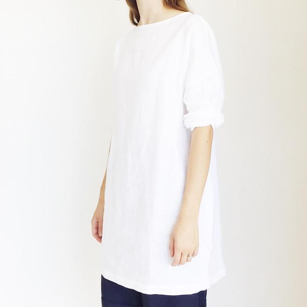 LLOYD White Linen Tunic