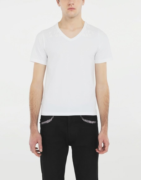 Unisex MM6 Maison Margiela AIDS Charity T shirt - White