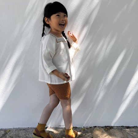 kids Liilu Chevron Knit Short - Terracotta
