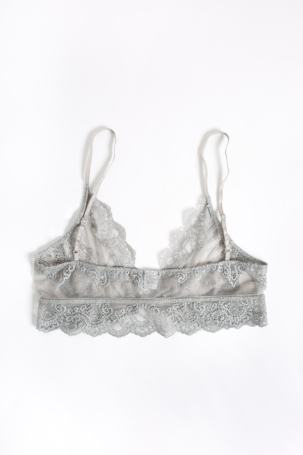 Only Hearts So fine lace bralette in heather grey