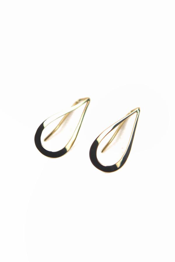 Emily Triplett Teardrop earrings in yellow gold