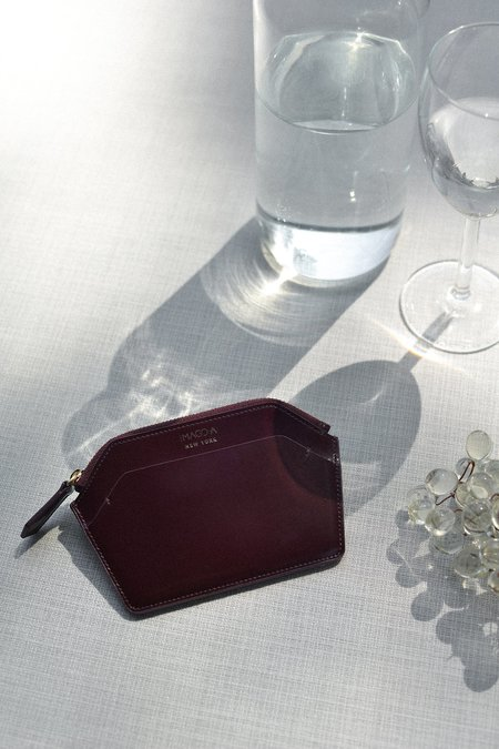 IMAGO-A Nº39 Forma Wallet - Burgundy Spazzolato
