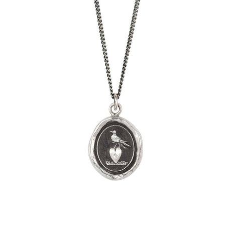 Pyrrha Martlet & Heart Talisman necklace - Sterling Silver