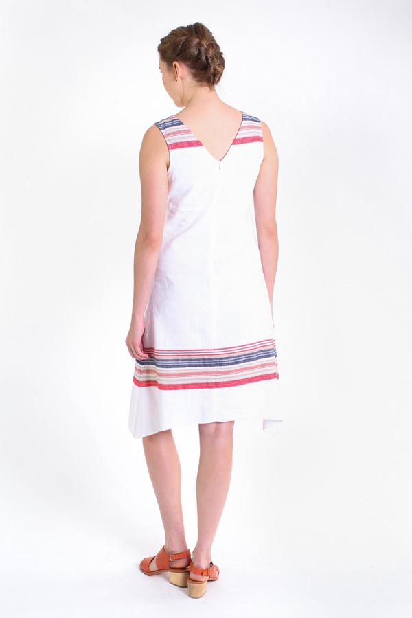 Nuthatch Washed border v-neck dress in multi