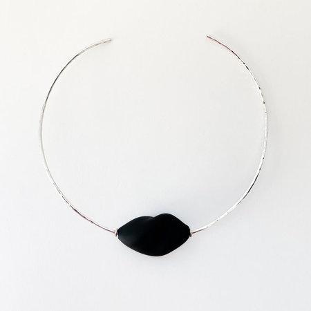 Crescioni pia necklace - black