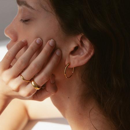 BAR Jewellery Ripple Earrings - Sterling/Gold