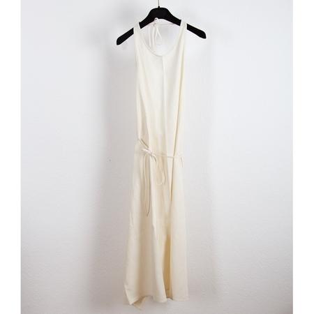 Baserange Apron Dress Raw Silk - Off white