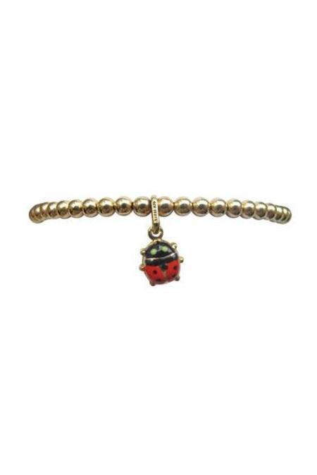 Bonnie Jennifer Ladybug Charm Bracelet in Yellow Gold