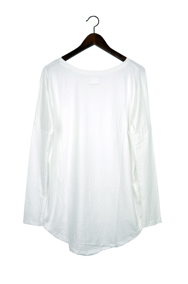 Rue Stiic Long Sleeve Top, White