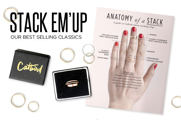 Catbird Twisted Stacker First Knuckle Ring, 14K Yellow Gold