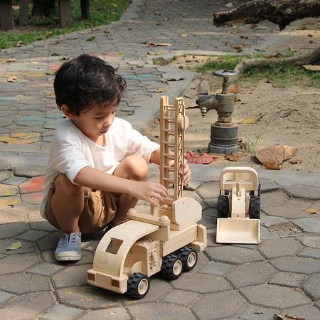 KIDS Plan Toys Wooden Fire Truck
