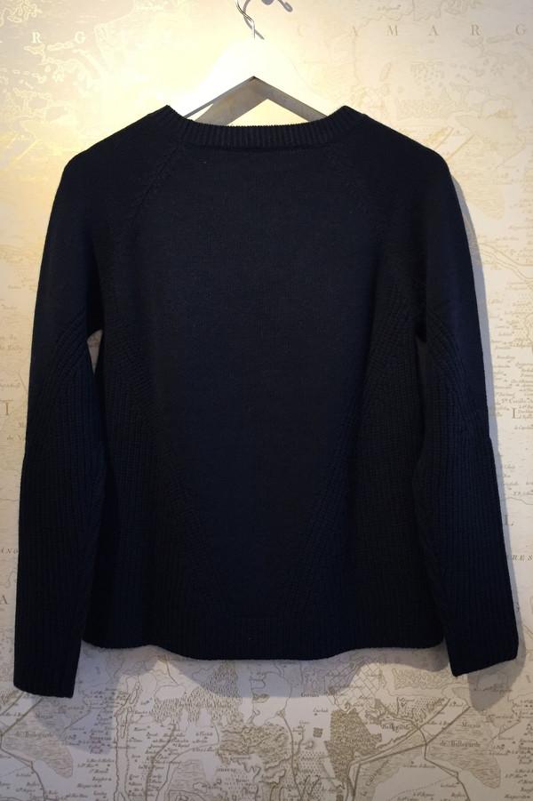Allude A-line crew neck sweater