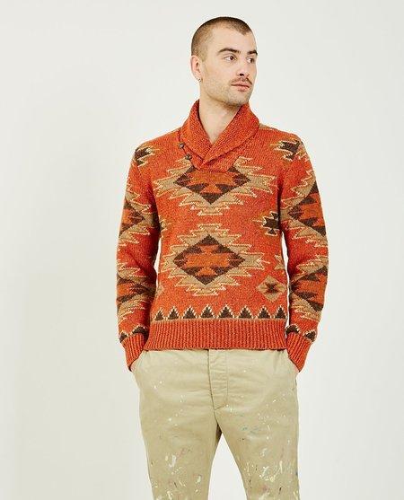 RRL Wool Silk Linen Sweater - Faded Red