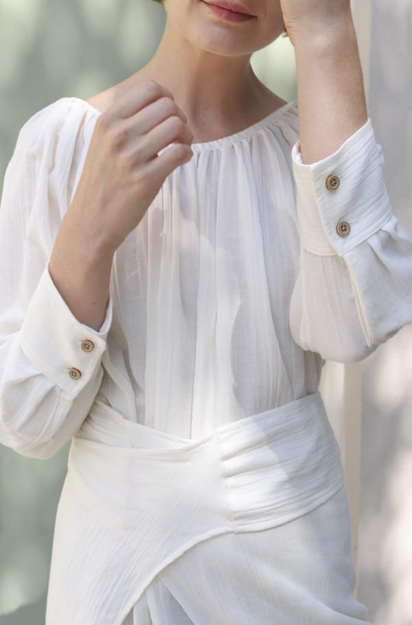 Caron Callahan Mathilda Dress in Ivory
