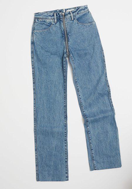 Lorod Zip Through Jean - Classic Blue