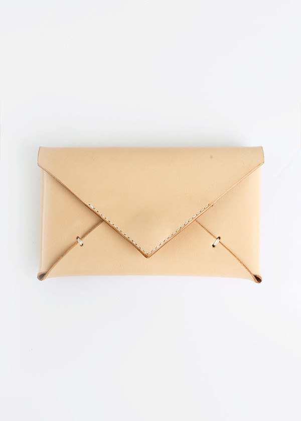 Sylvia Soo Leather Nude Everything Wallet