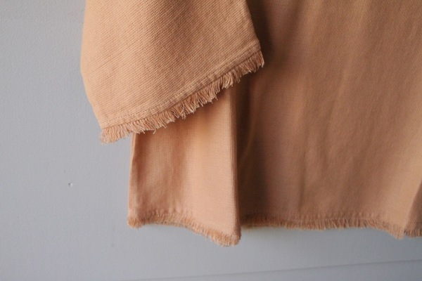 for her Apricot Fringe Top