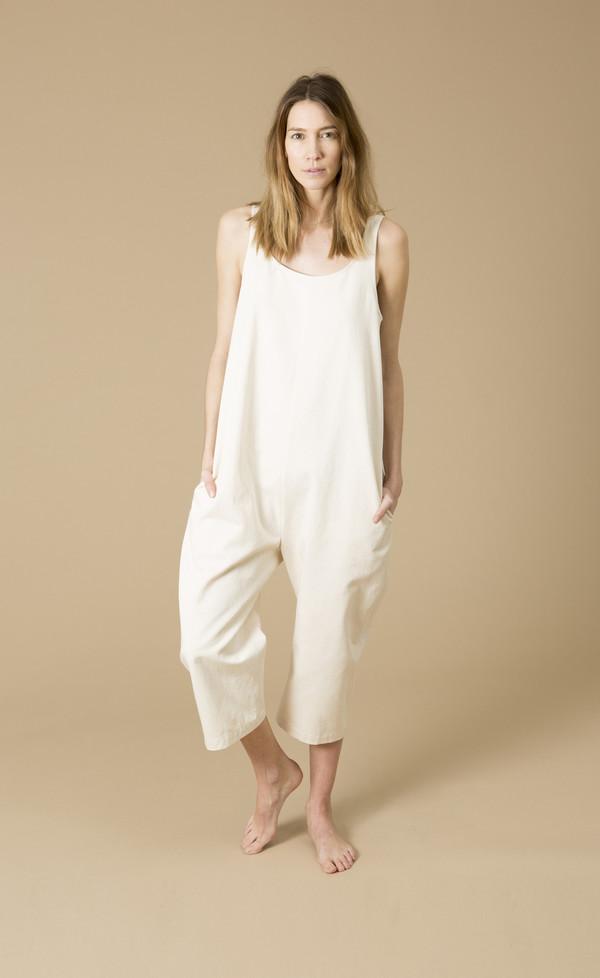 Ilana Kohn Gary Jumpsuit, Cream, Cotton Washed Twill