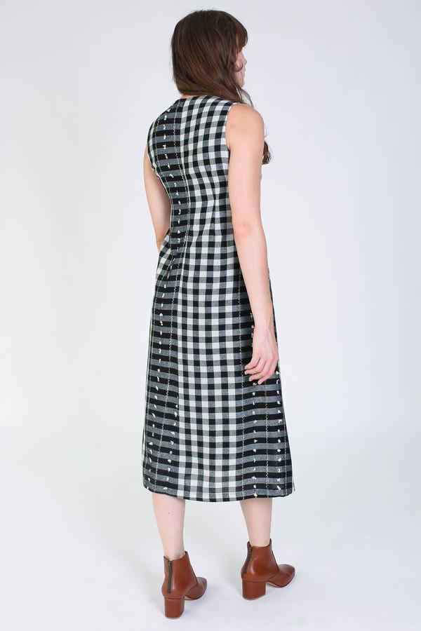 Svilu Swann dress in black/white check
