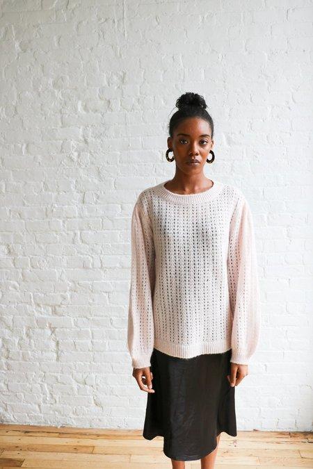[pre-loved] Ragdoll Fuzzy Sweater - light pink