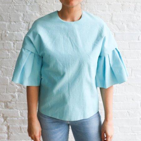 [pre-loved] Roksanda Phoebe Ruffled Blouse - light blue