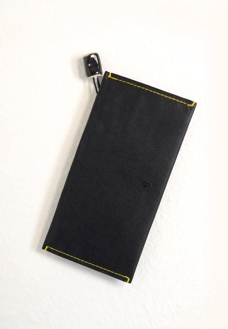 jujumade black fold wallet