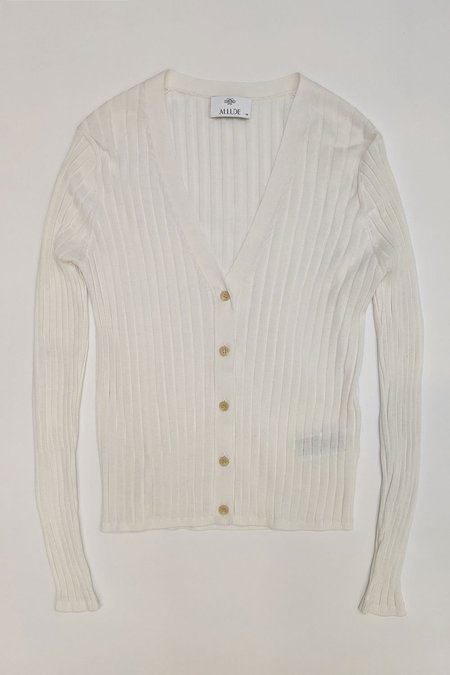 Allude V-Neck Knit Cardigan - Ivory