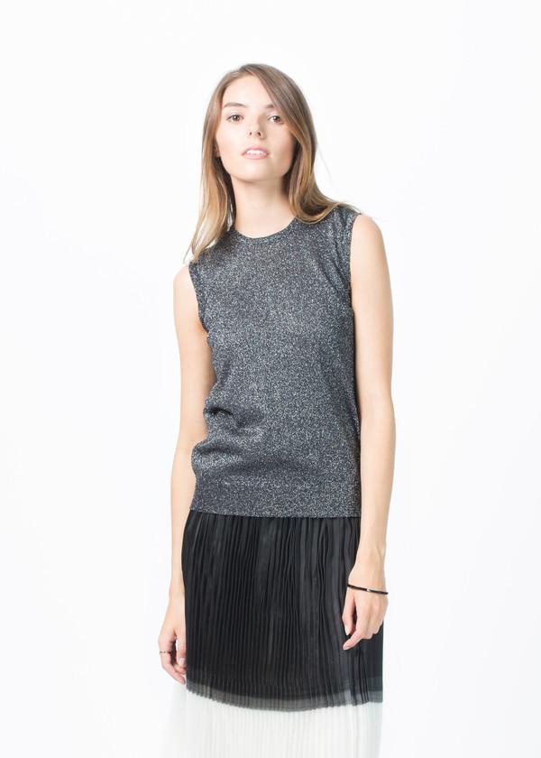 Sara Lanzi Knit Lurex Sleeveless Top