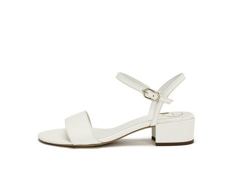 nine to five Strappy Sandal - off white