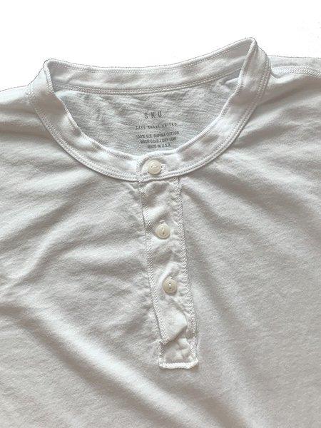 Save khaki United Supima Jersey Henley - White