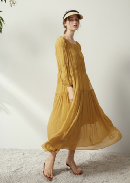 CAARA Terni Dress - Mustard