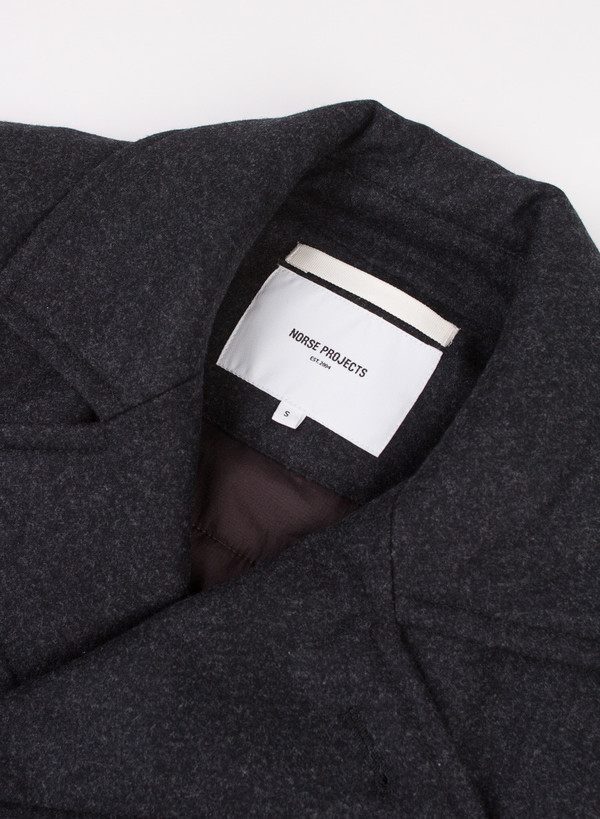 Norse Projects Birk Wool Charcoal Melange