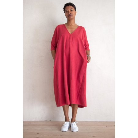 Ali Golden Full Dress with Pockets - Raspberry
