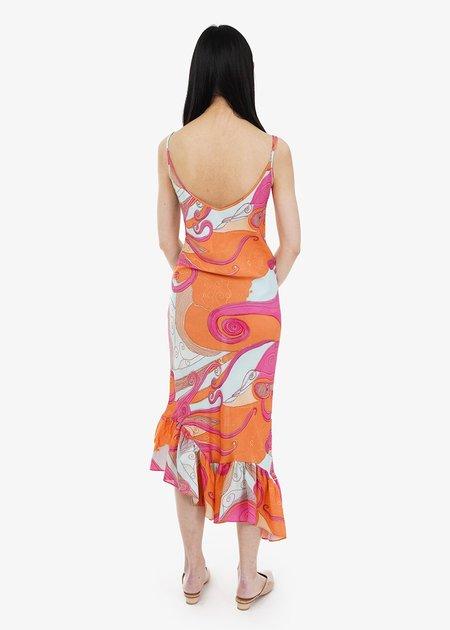 Collina Strada Michi Dress - Pink Swirls