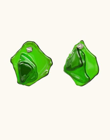 Cled Plateau Earrings - Green Forest