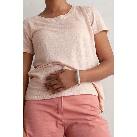 Ali Golden Linen T Shirt - Petal