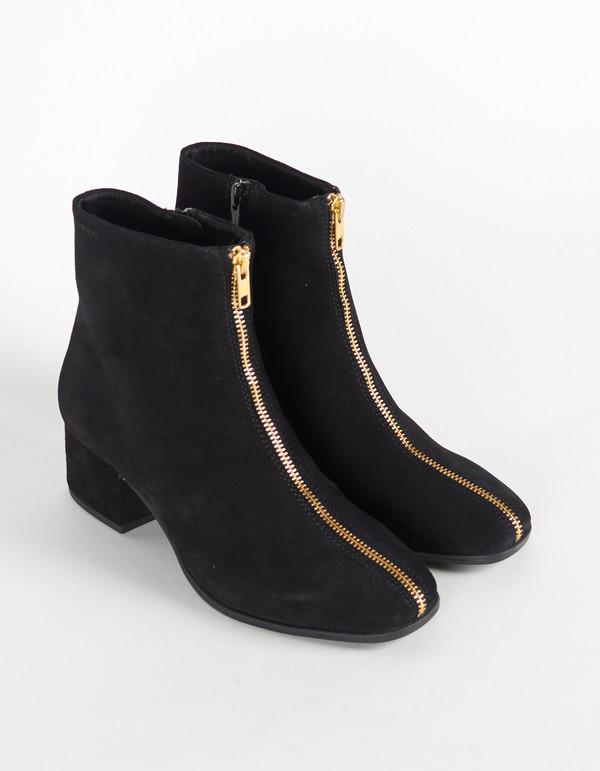 Vagabond Daisy Suede Zip Boot Black