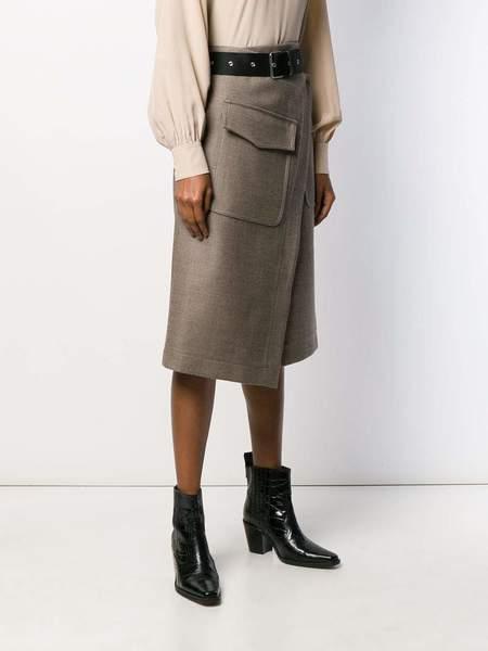 ERIKA CAVALLINI Skirt wth Asymmetrical Faux Wrap front - Urban chic