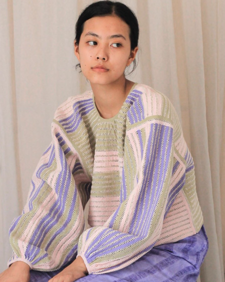 ALOJA Handmade Untitled.Co Dori Top - Light Green/Pink/Purple