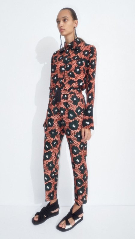 Christian Wijnants Perun Trousers - Coral Daisy