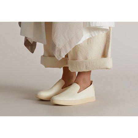 Feit Hand Sewn Slipper - White/Cream