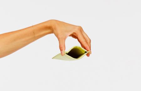 Building Block Card Sleeve wallet - Lemongrass