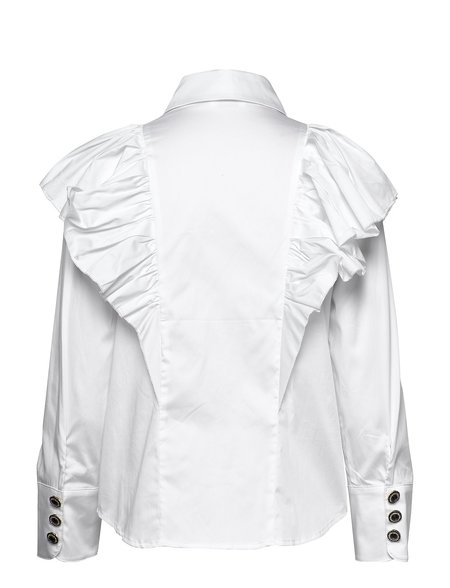 Notes Du Nord Oakley Ruffle Shirt - White