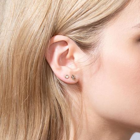 Shahla Karimi Rose Cut Diamond Earrings - 14K Yellow Gold