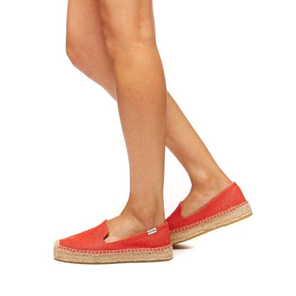 Soludos Platform Slipper in Poppy Red