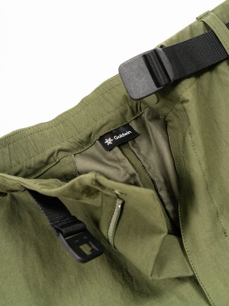 Goldwin Side Pocket Stretch Chino Pants - Olive Green