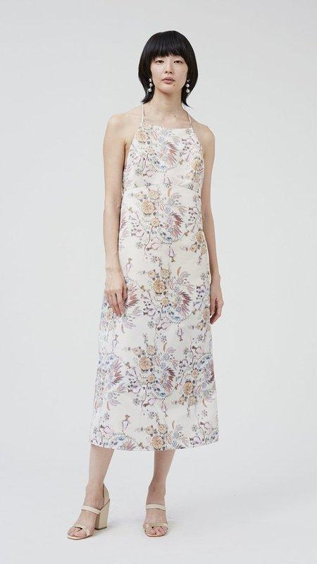 Rachel Comey Faction Dress - Ivory Multi Floral Taffeta